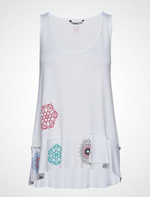 Desigual singlet, Ts Melisa T-shirts & Tops Sleeveless Hvit DESIGUAL