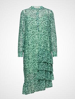 Pieszak kjole, Louisa Gia Frill Dress Knelang Kjole Blå PIESZAK