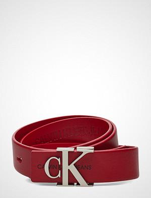 Calvin Klein belte, J 3cm Mono Leather B Belte Rød CALVIN KLEIN