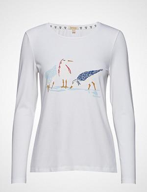 Barbour T-skjorte, Barbour Seafield Tee T-shirts & Tops Long-sleeved Hvit BARBOUR