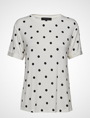 Soft Rebels T-skjorte, Dotted T-Shirt T-shirts & Tops Short-sleeved Hvit SOFT REBELS