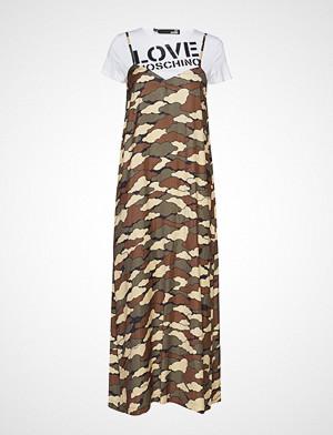 Love Moschino kjole, Wvh5301t9796 Knelang Kjole Grønn LOVE MOSCHINO