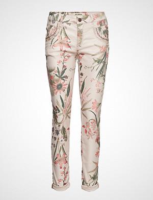 Mos Mosh bukse, Naomi Shine Flower Pant Stramme Bukser Stoffbukser Multi/mønstret MOS MOSH