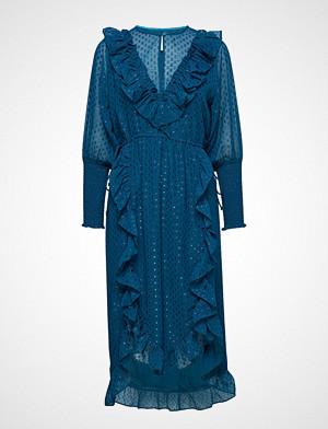 Lollys Laundry kjole, Adriana Dress Knelang Kjole Blå LOLLYS LAUNDRY