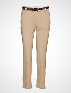 Mango Belt Straight Fit Trousers Vide Bukser Beige MANGO