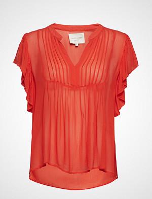 Lollys Laundry bluse, Isabel Top Bluse Ermeløs Oransje LOLLYS LAUNDRY