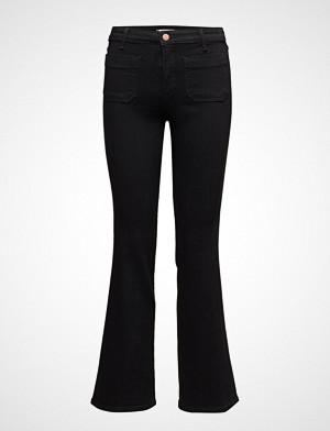 Wrangler bukse, Flare Jeans Sleng Svart WRANGLER