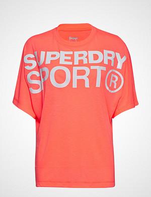 Superdry Sport T-skjorte, Active Loose Bf Tee T-shirts & Tops Short-sleeved Rød SUPERDRY SPORT