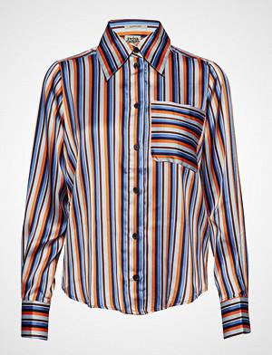 Twist & Tango skjorte, Nathalie Shirt Orange Stripe Langermet Skjorte Rød TWIST & TANGO