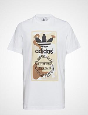 Camo Tee T shirts Short sleeved Hvit ADIDAS ORIGINALS