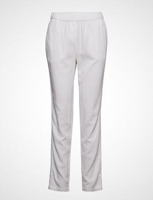 Brandtex bukse, Casual Pants Bukser Med Rette Ben Hvit BRANDTEX