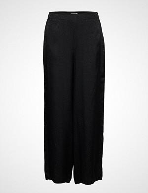 Superdry bukse, Janis Wide Leg Vide Bukser Svart SUPERDRY