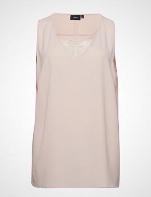 Zizzi bluse, Qalice, S/L, Lace Top Bluse Ermeløs Rosa ZIZZI