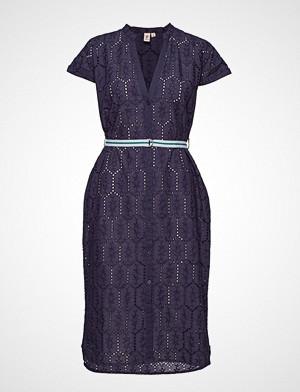 Becksöndergaard kjole, Anglaise Casey Long Shirt Knelang Kjole Blå BECKSÖNDERGAARD