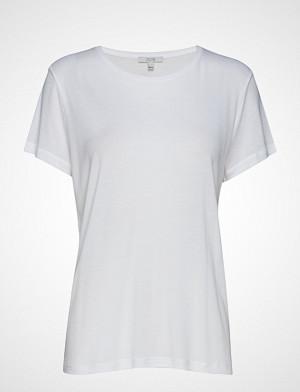 Dagmar T-skjorte, Upama Rib Top T-shirts & Tops Short-sleeved Hvit DAGMAR