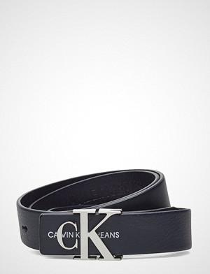 Calvin Klein belte, J 3cm Mono Leather B Belte Blå CALVIN KLEIN