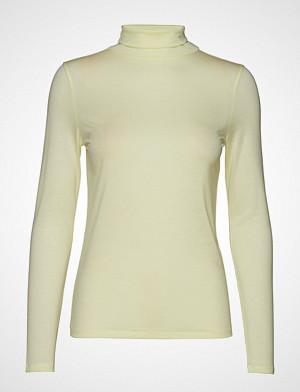 Filippa K T-skjorte, Tencel Polo Neck Top T-shirts & Tops Long-sleeved Grønn FILIPPA K