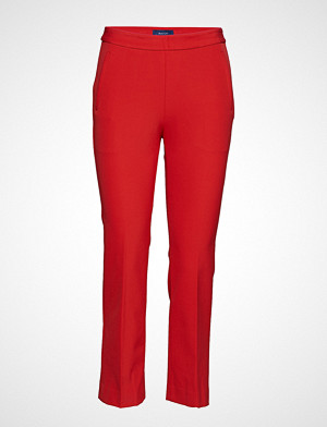 Gant bukse, O1. Straight Cropped Pant Stramme Bukser Stoffbukser Rød GANT