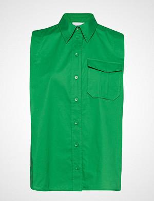 Calvin Klein bluse, Police Pkt Shirt Ns Bluse Ermeløs Grønn CALVIN KLEIN