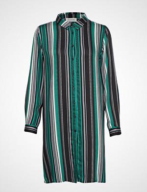 Denim Hunter kjole, Dhfifi Long Shirt Print Striped Kort Kjole Grønn DENIM HUNTER