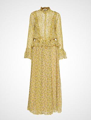 Zadig & Voltaire kjole, Roma Anem Long Dress Maxikjole Festkjole Gul ZADIG & VOLTAIRE