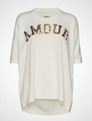 Zadig & Voltaire T-skjorte, Portland Amour T-shirts & Tops Short-sleeved Hvit ZADIG & VOLTAIRE