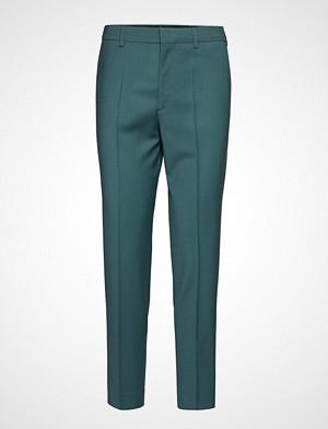Filippa K bukse, Emma Cropped Cool Wool Trouser Bukser Med Rette Ben Grønn FILIPPA K