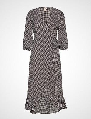 Becksöndergaard kjole, Check Alva Dress Knelang Kjole Svart BECKSÖNDERGAARD