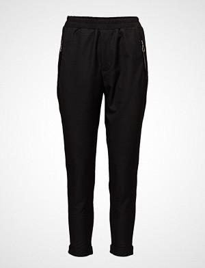 Pulz Jeans bukse, Samantha Loose Pant Bukser Med Rette Ben Svart PULZ JEANS