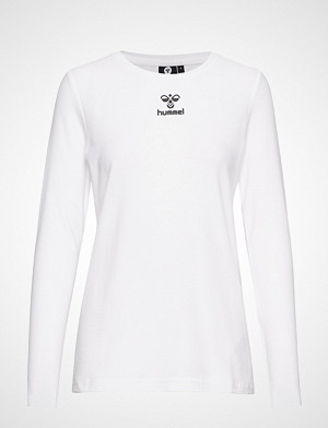 Hummel T-skjorte, Hmlframe T-Shirt L/S T-shirts & Tops Long-sleeved Hvit HUMMEL