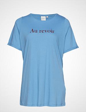 Junarose T-skjorte, Jrrevoir Ss T-Shirt - S T-shirts & Tops Short-sleeved Blå JUNAROSE