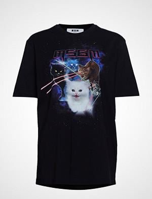 MSGM T-skjorte, Space Cats T-Shirt T-shirts & Tops Short-sleeved Svart MSGM