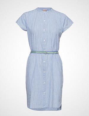 Becksöndergaard kjole, Casey Striped Knelang Kjole Blå BECKSÖNDERGAARD