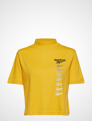 Reebok Classics T-skjorte, Cl V P Cropeed Tee T-shirts & Tops Short-sleeved Gul REEBOK CLASSICS