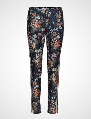 Mos Mosh bukse, Blake Gold Flower Pant Bukser Med Rette Ben Multi/mønstret MOS MOSH