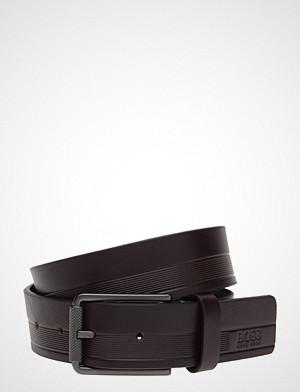 BOSS Business Wear belte, Tylir-Stripe_sz35 Belte Brun BOSS BUSINESS WEAR