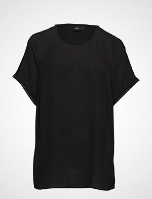 Zizzi T-skjorte, Mflame S/S Blouse T-shirts & Tops Short-sleeved Svart ZIZZI