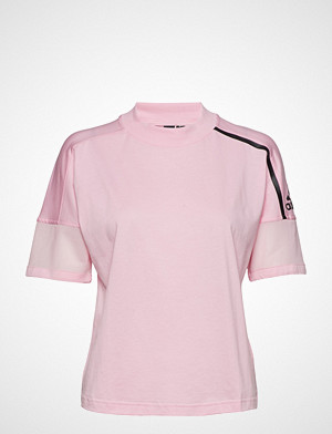 W Zne Tee T shirts & Tops Short sleeved Rosa ADIDAS PERFORMANCE