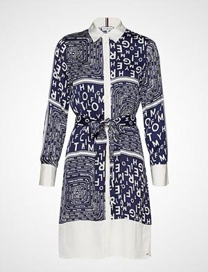 Tommy Hilfiger kjole, Florence Shirt Dress Knelang Kjole Multi/mønstret TOMMY HILFIGER