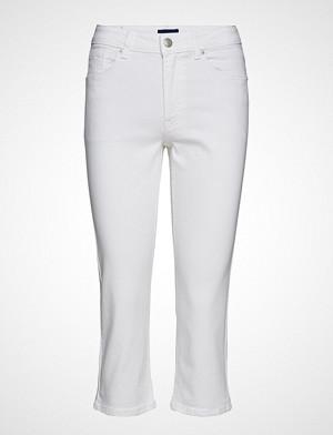 Gant jeans, D1. Slim White Capri Jeans Slim Jeans Hvit GANT