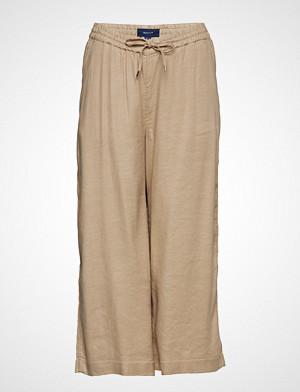 Gant bukse, O2. Summer Linen Culotte Vide Bukser Beige GANT