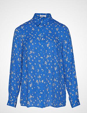 Violeta by Mango skjorte, Printed Flowy Shirt Langermet Skjorte Blå VIOLETA BY MANGO