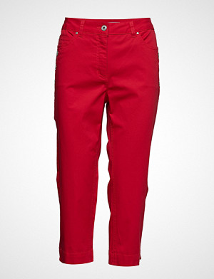 Brandtex bukse, Capri Pants Bukser Med Rette Ben Rød BRANDTEX