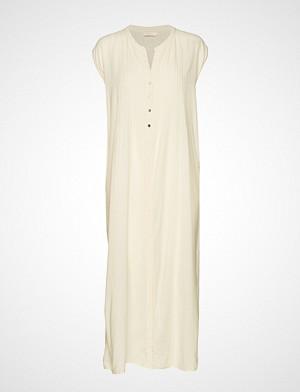 Rabens Saloner kjole, Cotton Pintuck Long Dress Knelang Kjole Creme RABENS SAL R