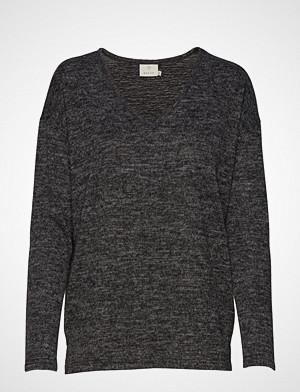 Kaffe genser, Kasiane V Neck Pullover Strikket Genser Grå KAFFE
