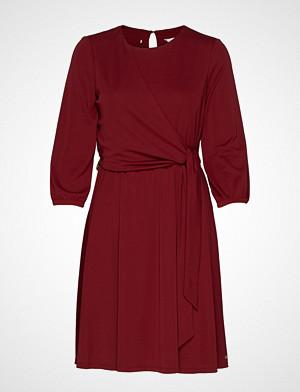 Tommy Hilfiger kjole, Barbara Wrap Dress L Knelang Kjole Rød TOMMY HILFIGER