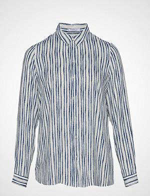 Violeta by Mango skjorte, Printed Flowy Shirt Langermet Skjorte Hvit VIOLETA BY MANGO