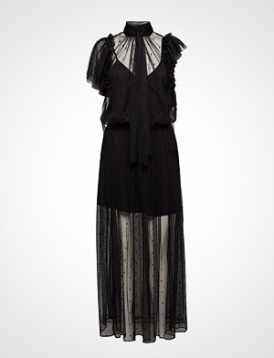 Zadig & Voltaire kjole, Rulle Mesh Robe Maxikjole Festkjole Svart ZADIG & VOLTAIRE