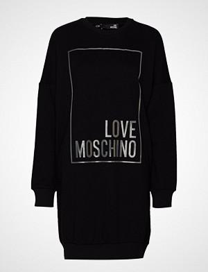 Love Moschino kjole, W5a4802m4068 Kort Kjole Svart LOVE MOSCHINO