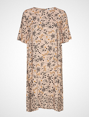 Saint Tropez kjole, U6022, Woven Dress Above Knee Knelang Kjole Beige SAINT TROPEZ